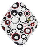 "YiFashion Cloth Pad 8 Inch Charcoal ""Red and Black Circles"""