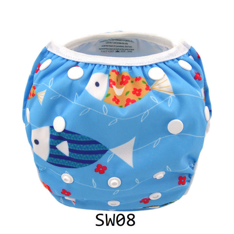 "Alva Swim Diaper ""Fishy Fishy"""