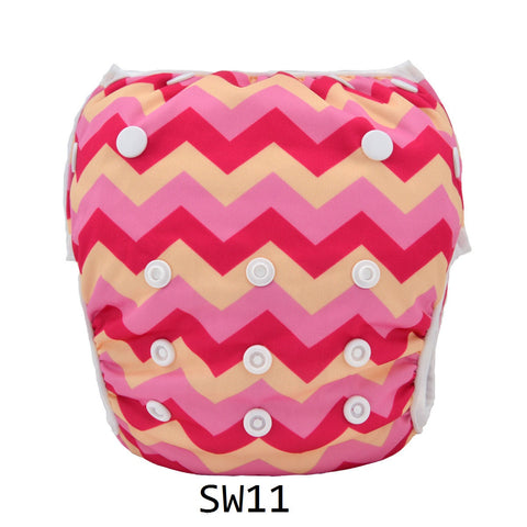 "Alva Swim Diaper ""Girl Chevrons"""