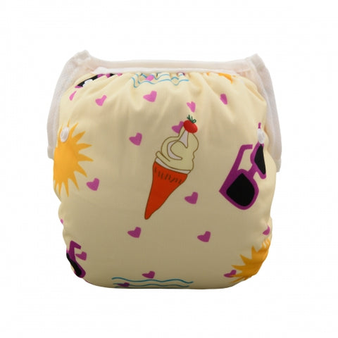 "Alva Swim Diaper ""Ice Cream and Glasses"""