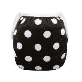 "Alva Swim Diaper ""Black/White Polka Dot"""