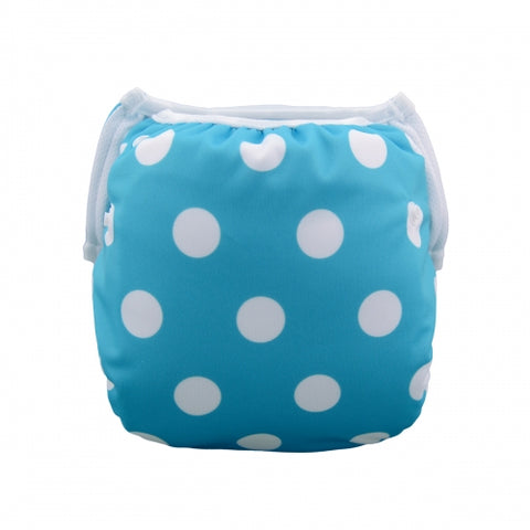 "Alva Swim Diaper ""White Dots on Blue"""