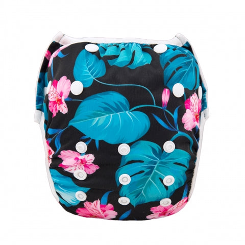 "Alva Swim Diaper ""Blue Leaves"""
