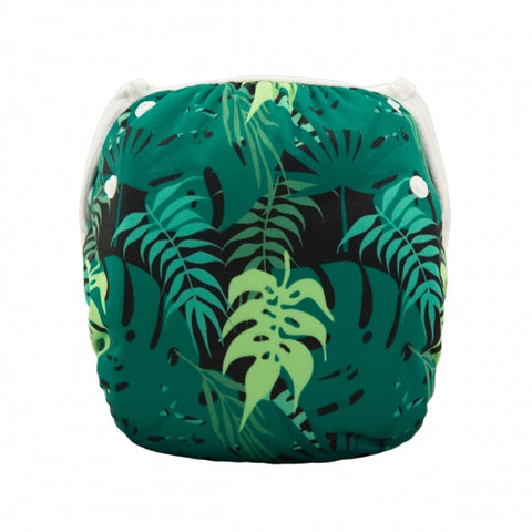 "Alva Swim Diaper ""Green Leaves"""