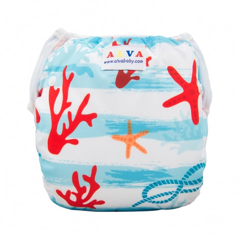 "Alva Swim Diaper ""Starfish and Coral"""