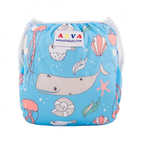"Alva Swim Diaper ""Smiling Whale"""