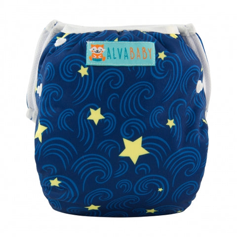 "Alva Swim Diaper ""Stars and Swirls"""