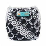 "Alva Swim Diaper ""Black Pattern Scales"""