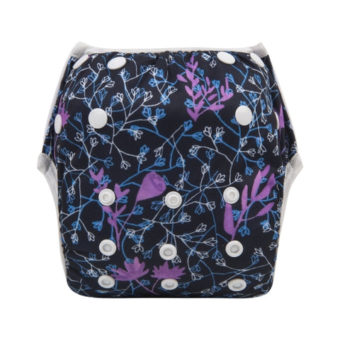 "Alva Swim Diaper ""Purple Floral Drift"""