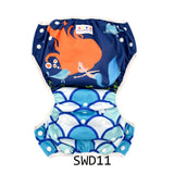 "Alva Swim Diaper ""Ginger Mermaid"""