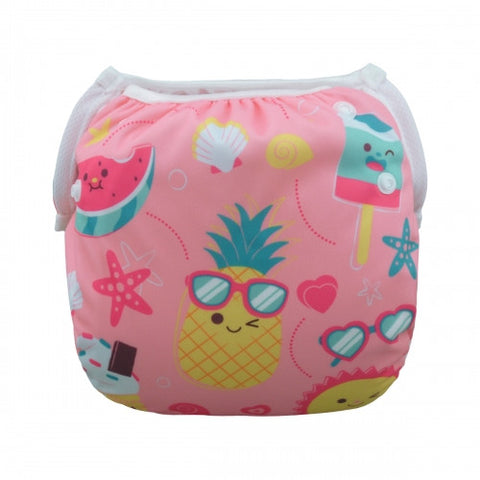 "Alva Swim Diaper ""Pink Summer"""