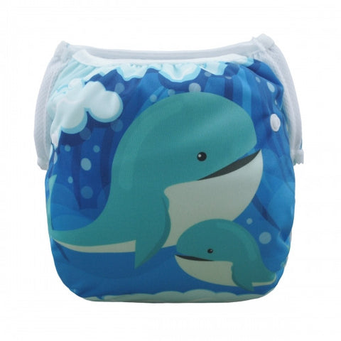 "Alva Swim Diaper ""Whale Family"""