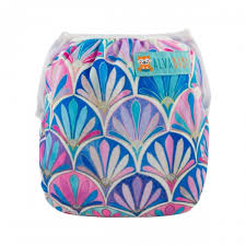 "Alva Swim Diaper ""Purple Shell Pattern"""