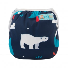 "Alva Swim Diaper ""Polar Bear and Tree"""