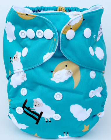 "Fluffy Penguin Pocket ""Counting Sheep"""