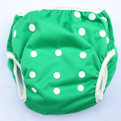 "Sigzagor Swim Diaper ""Solid Green"""