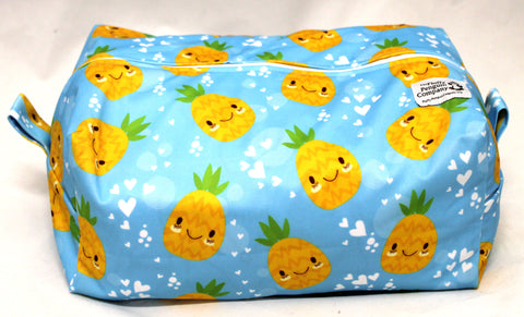 "Extended Diaper Pod ""Smiling Pineapples"""