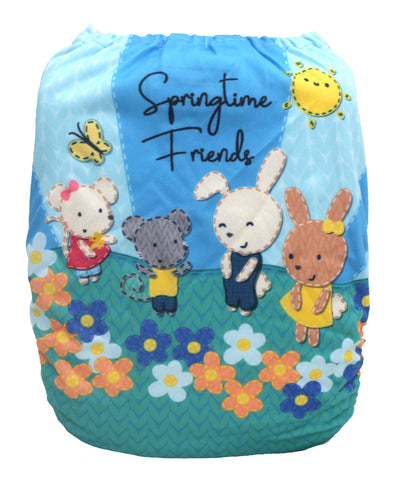 "Fluffy Penguin Pocket ""Springtime Friends"""