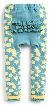 "Eva & Elvin Pants ""Mint Flower Ruffle"""