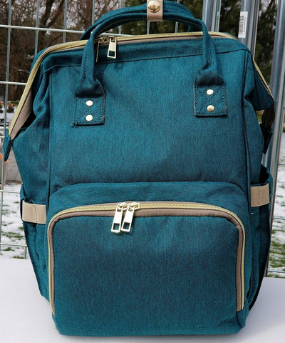 "Backpack Diaper Bag ""Dark Teal"""