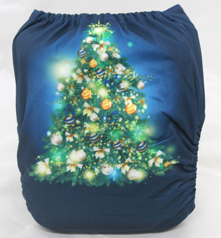 "Fluffy Penguin Cover ""Teal Christmas Tree"""
