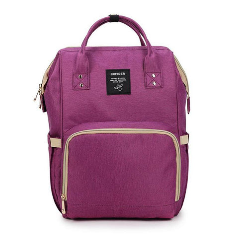 "Backpack Diaper Bag ""Vivid Purple"""