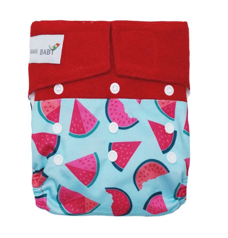 "Kawaii Hook and Loop Pocket ""Watermelon Bites"""
