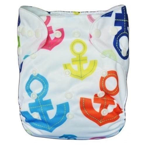 "Alva Pocket ""Multicolored Anchors"""