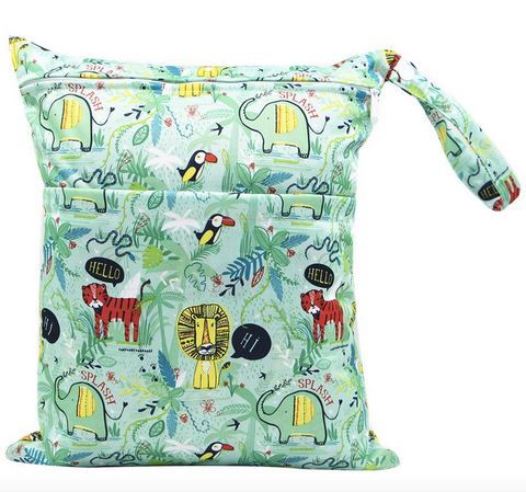 "YiFashion Double Zipper Travel Wetbag ""Jungle Drawings"""