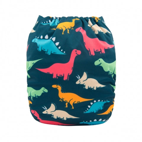 "Alva Pocket  ""Dinosaurs on Navy"""