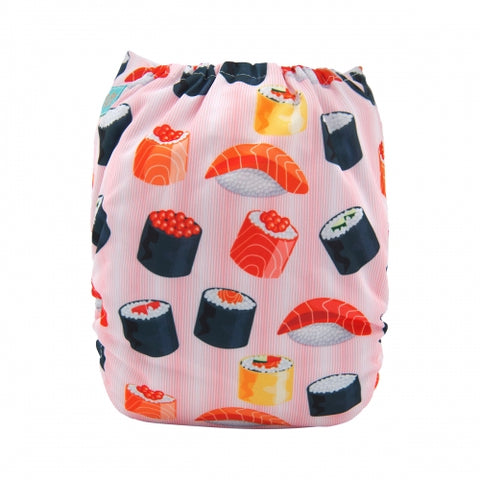"Alva Pocket  ""Sushi on Pink"""