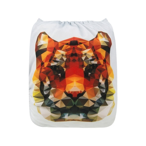 "Alva Pocket ""Geometric Tiger Face"""