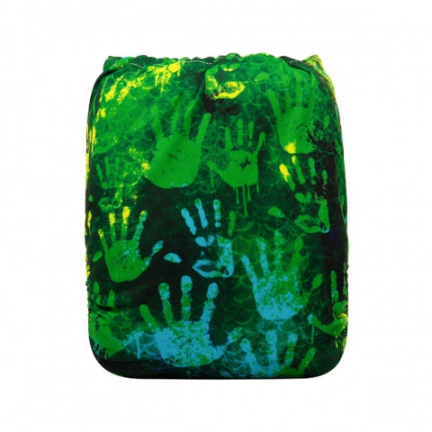 "Alva Pocket ""Emerald Handprints"""