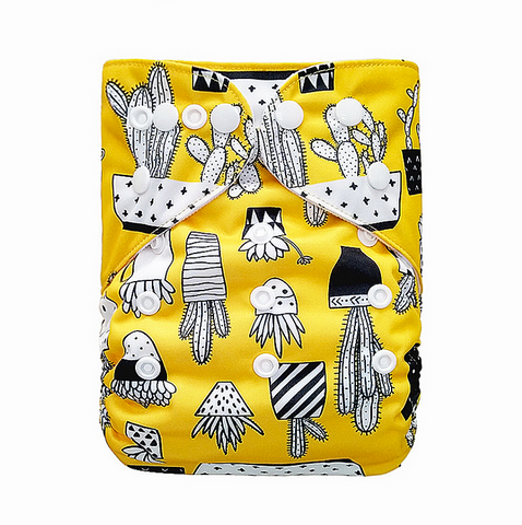 "YiFashion Pocket  ""Cactus on Yellow"""