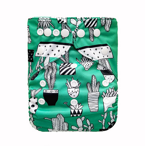 "YiFashion Pocket  ""Cactus on Green"""