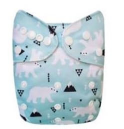 "YiFashion Pocket  ""Polar Bears on Aqua"""
