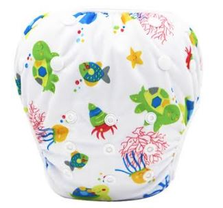 "YiFashion Swim Diaper ""Turtles and Fish"""