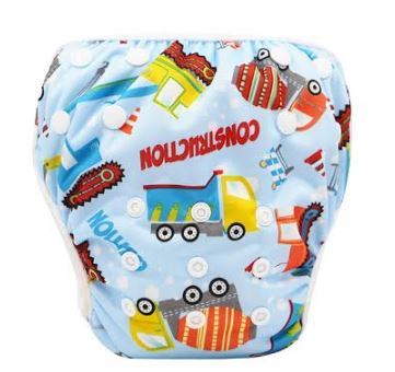 "YiFashion Swim Diaper ""Blue Construction"""