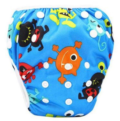 "YiFashion Swim Diaper ""Blue Aliens"""