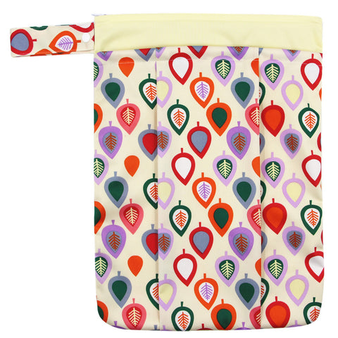 "YiFashion Double Zipper Travel Wetbag ""Colorful Leaves"""