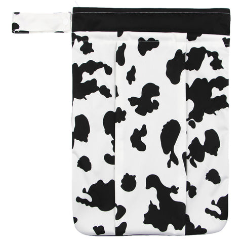 "YiFashion Double Zipper Travel Wetbag ""Cow Print"""