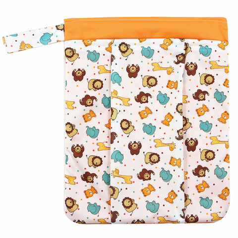 "YiFashion Double Zipper Travel Wetbag ""Zoo Animals"""
