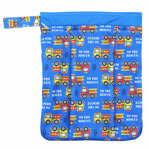 "YiFashion Double Zipper Travel Wetbag ""Firetrucks"""