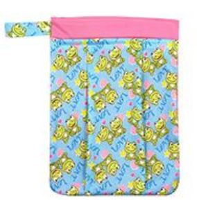 "YiFashion Double Zipper Travel Wetbag ""Smiling Frogs"""