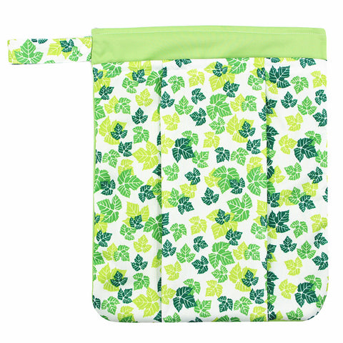 "YiFashion Double Zipper Travel Wetbag ""Leaves"""