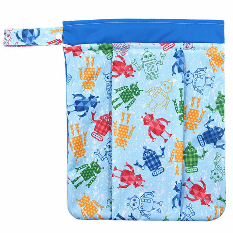 "YiFashion Double Zipper Travel Wetbag ""Robots"""