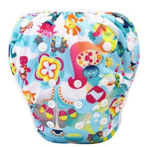 "YiFashion Swim Diaper ""Cartoon Sea"""