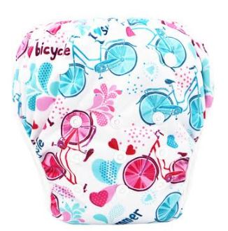 "YiFashion Swim Diaper ""Summer Bicycles"""