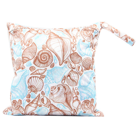 "YiFashion Single Zipper Travel Wetbag ""Seashells"""