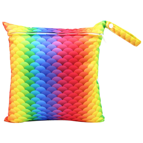 "YiFashion Single Zipper Travel Wetbag ""Rainbow Scales"""